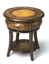Jeeves Table L Butler End Table Leather Rustic Side Tables And Specialty