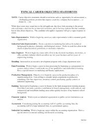 resume objective statement exles management companies typical career objective statements career statements objective
