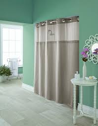 Hotel Shower Curtain With Snap In Liner Amazon Com Hookless Rbh95my980 Hudson Herringbone Shower Curtain