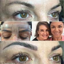 eyebrow feather tattoo uk em rusciano gets eyebrow feathering tattoo daily mail online