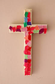 wood crosses for crafts easy mosaic cross craft reading confetti