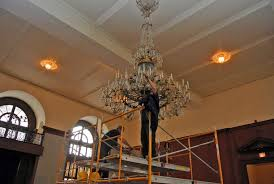 Chandelier Restoration 1888 Chandelier Restoration Union League Philadelphia Mss