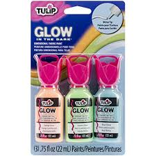 Glow In The Dark Spray Paint Colors - amazon com tulip dimensional fabric paint set glow in the dark