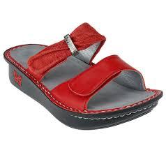 alegria leather double strap slide sandals karmen page 1 u2014 qvc com