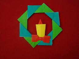 origami christmas cards christmas lights decoration