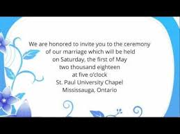 Wedding Quotes For Brother Wedding Invitation Wording Etiquette Examples Youtube