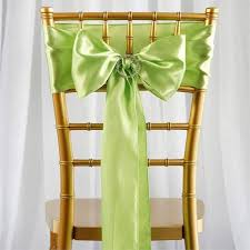 chair sashes satin chair sash 6x106 apple green 5pcs efavormart