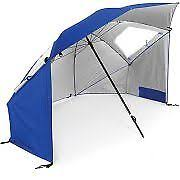 Portable Patio Umbrella by Pure Garden 9 Half Round Patio Umbrella Blue 160g Polyester Steel