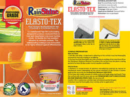 Textured Paint For Exterior Concrete Walls - rain or shine elasto tex textured waterproofing 4liters