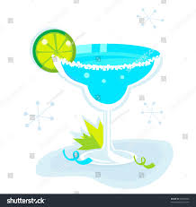 blue martini clip art blue margarita cocktail isolated on white stock vector 63528520