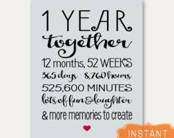 1 year anniversary ideas for him 1 year anniversary etsy