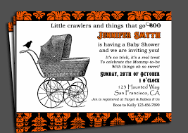 halloween baby shower invitation printable or printed with