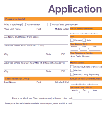 medicare application forms 9 documents free download in pdf