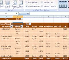 pivot table exle download excel pivot table design layout pivot table styles