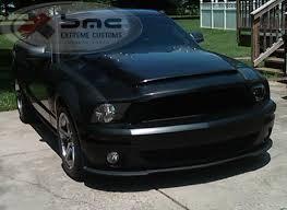 A Black Mustang Ford Mustang Gt500 Black Mamba Hood 2005 2009