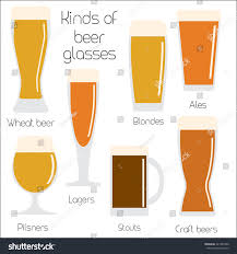 cool glassware set beer glassware cool minimal flat stock illustration 421385590