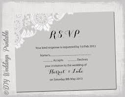 wedding rsvps wedding rsvp template diy silver gray antique sle rsvp
