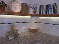 Lush X River Rock Greige Glass Subway Tile Kitchen - White subway tile backsplash ideas