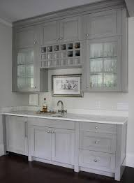 satin nickel white kitchen love everything about this grey butlers pantry with built in wine rack transitional kitchen
