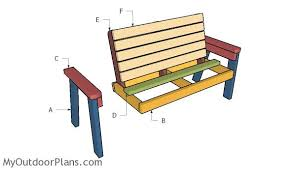 Simple Wood Bench Instructions by 2x4 Garden Bench Plans Myoutdoorplans Free Woodworking Plans