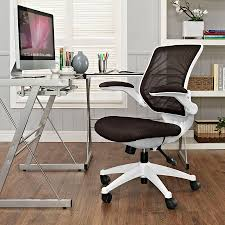 Modern Fabric Chairs Ede Fabric Brown White Modern Office Chair Eurway