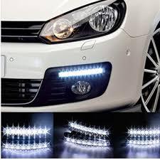 Led Light Bar 12v by 2pcs Lot Super White 8 Led Daytime Running Lights Drl Light Bar