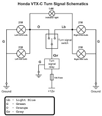 wiring diagram honda vtx c turn signal schematic for