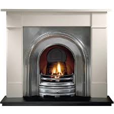 gallery crown cast iron arched insert fireplace products