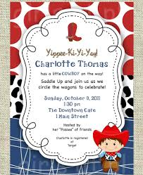 baby shower invitations western baby shower invitations free