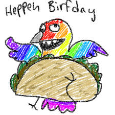birthday stuff happy birthday mentalnerd a fredrick taco by roomsinthewalls