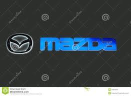 logo de mazda mazda logo editorial image image 16501530