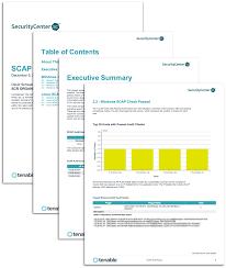 scap audit report sc report template tenable