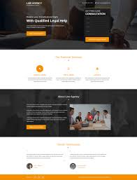 responsive lead gen html5 law agency landing page design template