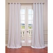 exclusive fabrics textured dupioni faux silk 108 inch blackout grommet curtain panel
