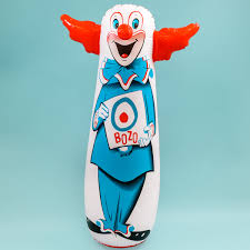 bozo the clown bop bag inflatable toy classic kids toys