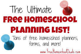 free home school ultimate free homeschool planning list free homeschool planners