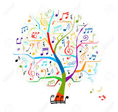abstract musical tree for your design royalty free cliparts
