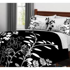 Girls Queen Comforter Kids Bedding Black U0026 White Flowers Girls Queen Comforter Set 7