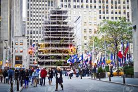 new york november 19 scaffolding surrounds the world famous