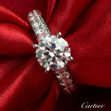 cartier diamond ring cartier diamond platinum ring 1 52ct g vvs2 n4164654 rich