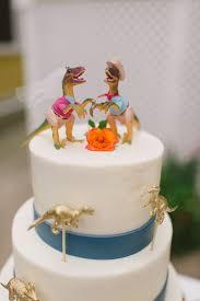 dinosaur wedding cake topper and groom dinosaur cake topper