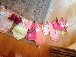 clothes line baby shower gift hang items like laundry on a line