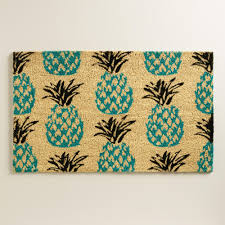 blue pineapple doormat world market