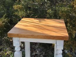 antique style butcher block table