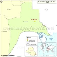 map of basra where is basrah location of basrah in iraq map