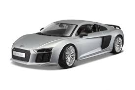Audi R8 Blacked Out - amazon com audi r8 v10 plus silver 1 18 by maisto 36213 toys u0026 games