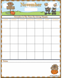 november thanksgiving calendar thanksgiving calendars free
