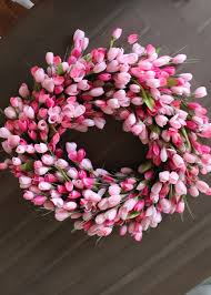tulip wreath stylin in st louis diy tulip wreath