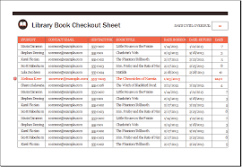 Excel Sheet Template Library Book Checkout Sheet Template Xls Excel Templates