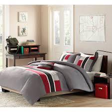3pc boys comforter set teen reversible bedding machine wash red